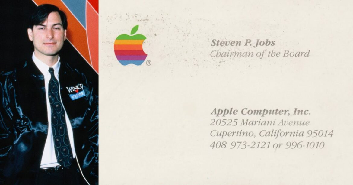 Steve Jobs' personal bomber jacket, vintage business card, and more up for auction