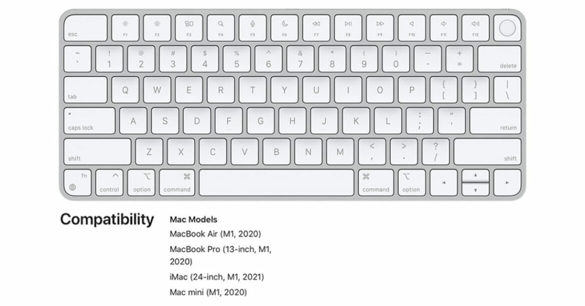PSA: Magic Keyboard with Touch ID only works with M1 Macs