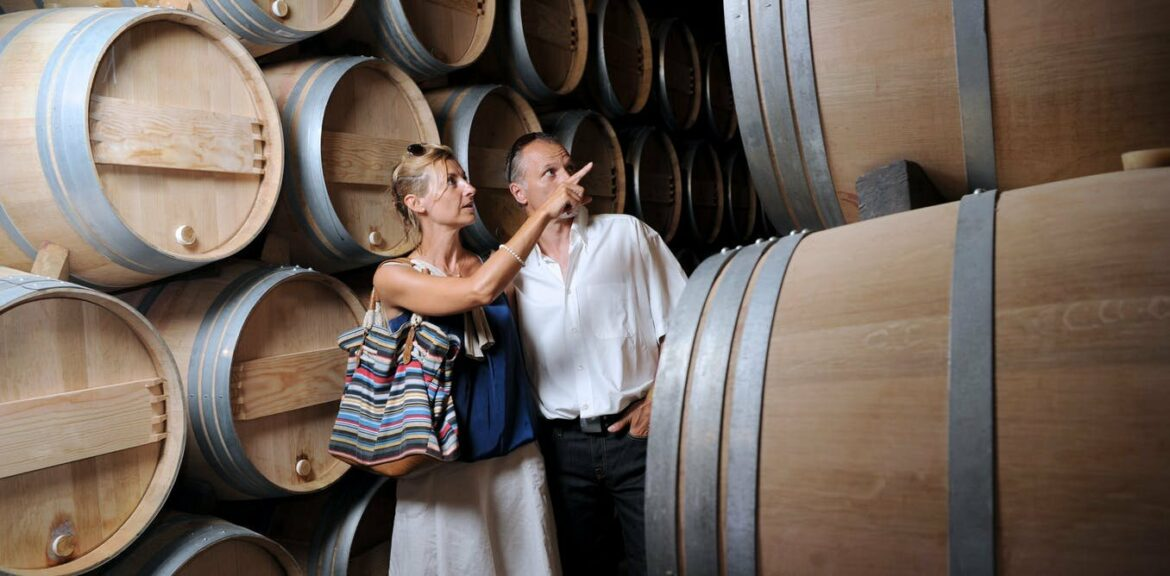 Vineyard tourism is a major source of carbon emissions.Buying more wine on the premises may help reduce it
