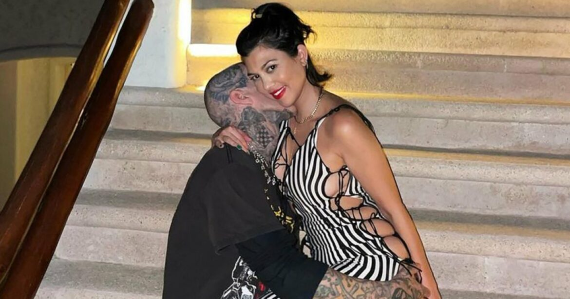 Kourtney Kardashian and Travis Barker Fly to Italy for PDA-Packed Trip