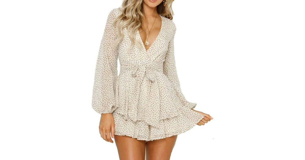 This No. 1 Bestselling Romper Looks Just Like a Mini Wrap Dress