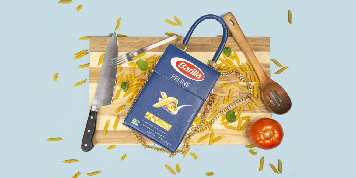 A designer turned a pasta box into a bag — and it costs a pretty penne