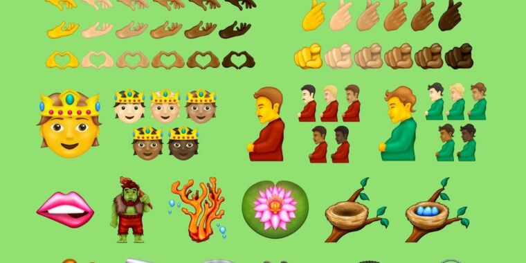 """""""Melting face,"""" """"pregnant person,"""" and 35 other emoji approved for Unicode 14.0"""