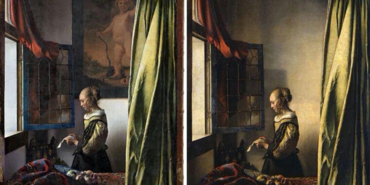 Restored Vermeer painting finally reveals hidden Cupid in background