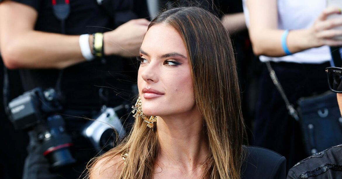 Alessandra Ambrosio Wears a Barely-There Dress to the Dundas x Revolve Show