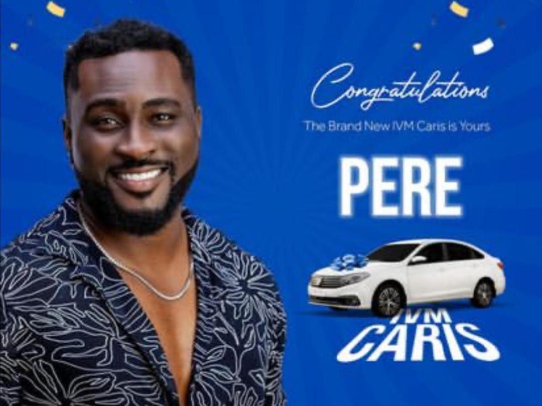 BBNaija 6: Pere wins brand new IVM caris car