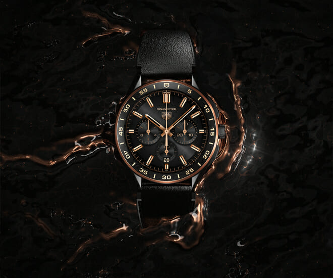 Black & Gold: TAG Heuer Gives the Connected the Luxe Treatment