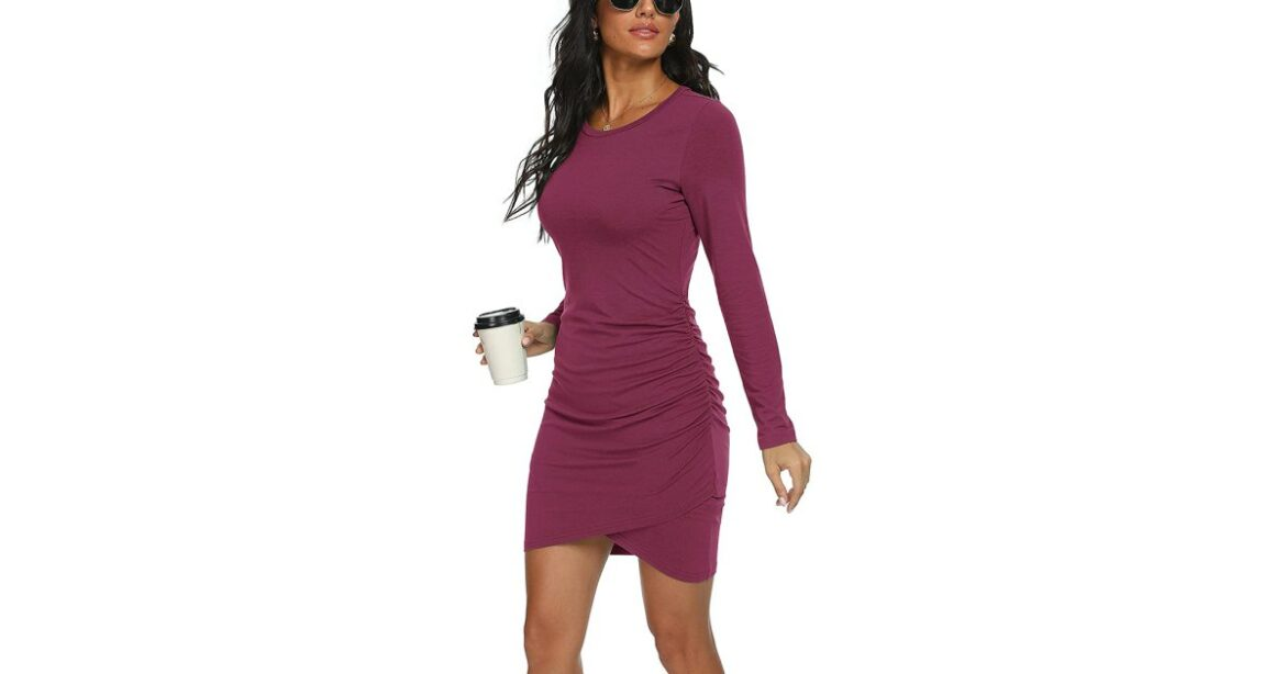 Bring On the Bodycon! This Ruched Dress Is Universally Flattering