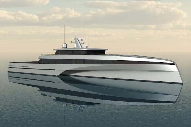 Bury Design Unveils 57m trimaran, 24m monohull concepts