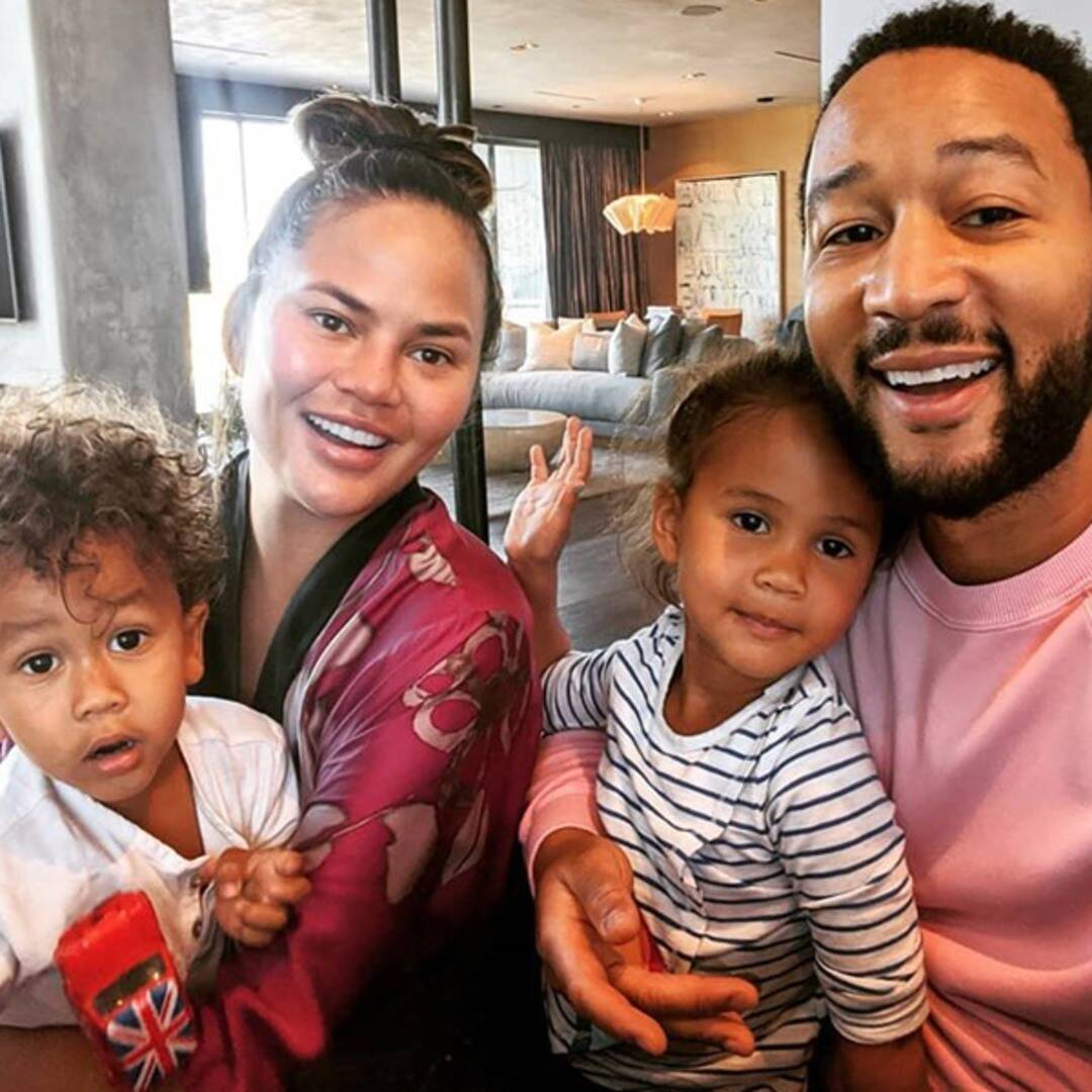 Chrissy Teigen Tears Up While Dropping Luna and Miles Off for First Day of School With John Legend