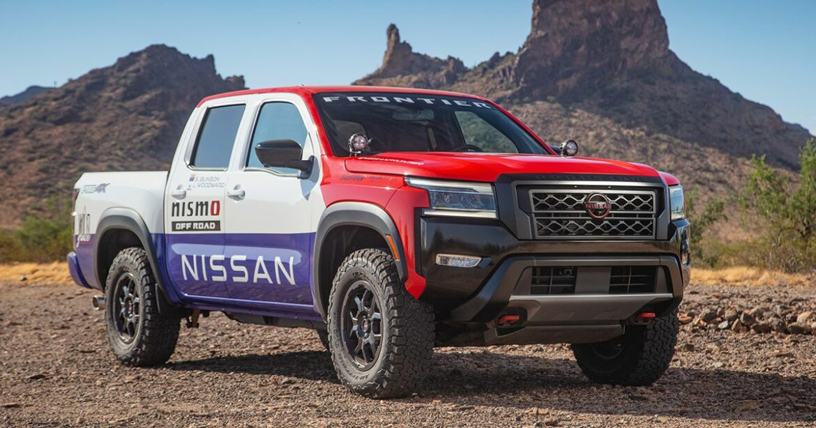 Nissan Frontier goes nostalgic with a Hardbody wrap for Rebelle Rally