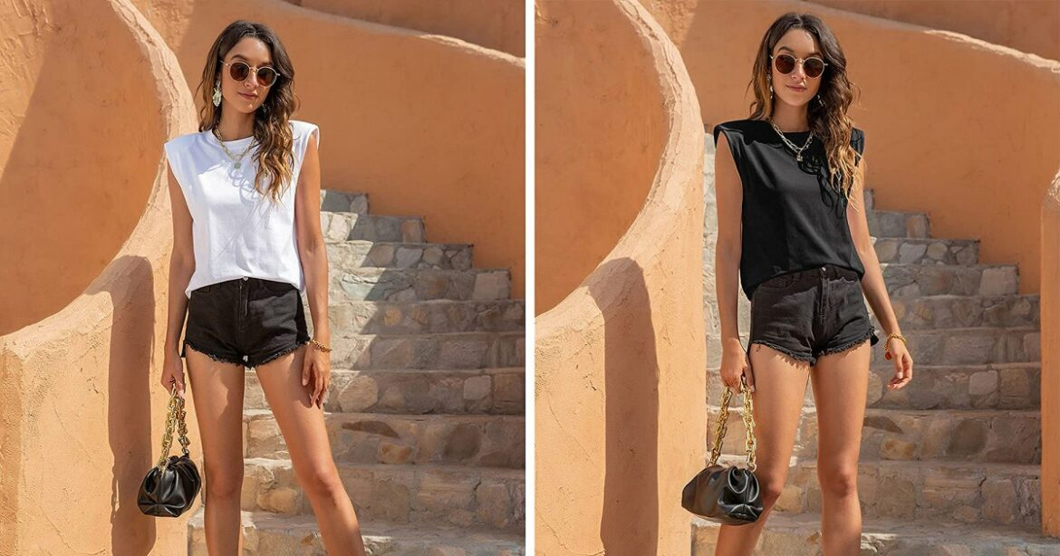 This Muscle Tee Is Totally Making Shoulder Pads Chic Again