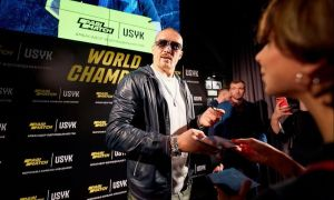 Usyk returned home as a hero