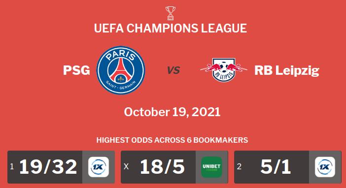 PSG vs RB Leipzig Prediction, Odds & Betting Tips (19/10/21)