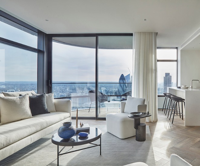 Last remaining apartments at Principal Tower, one of London's tallest residential towers
