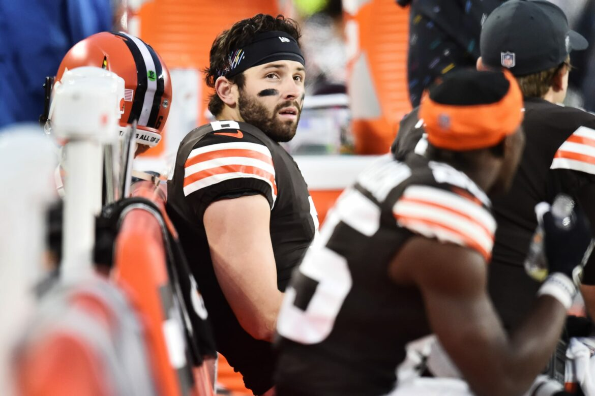 Baker Mayfield clearly prepping to start against Steelers
