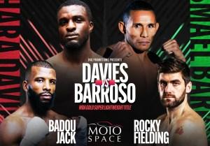 Barroso defends his Gold belt against Davies on November 26 in Dubai
