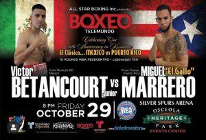 Betancourt-Marrero on Friday in Kissimmee for WBA-Fedecentro belt