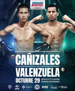 Cañizales returns to Mexico City to fight Valenzuela for the WBA Fedecaribe belt