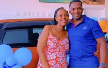 NTV's Edwin Musiime gifts co-host/wife Christabel Musiime with a car