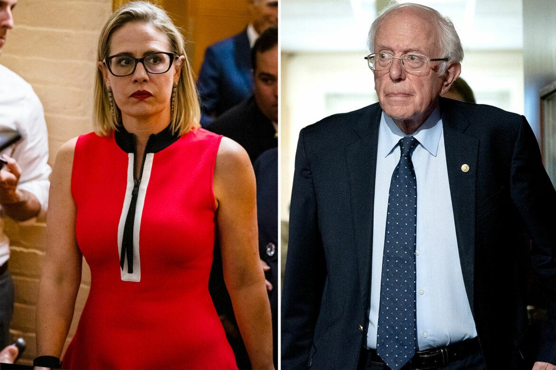 Sanders won't condemn Sinema harassment amid spending bill spat