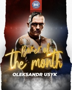 Usyk is WBA Boxer of the month
